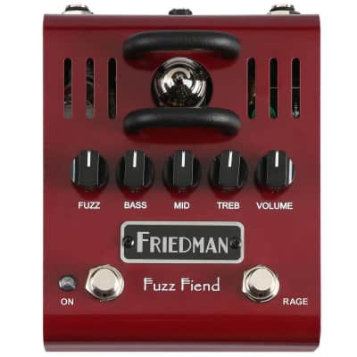 Friedman Amplification Fuzz Fiend 12AX7 Tube Powered Fuzz Electric Guitar Effects Pedal for sale