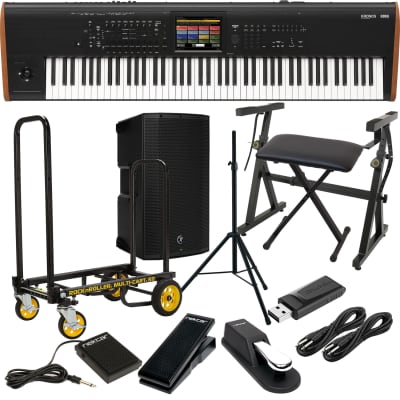 Korg Kronos 2 73-key Synthesizer Workstation, Mackie Thump12A Speaker, Speaker Stand, Rock-N-Roller R2RT, Plixio Stand, Bench, Sustain Pedal, Nektar NX-P, Nektar NP1, (2) 1/4 Cables, 64GB USB Stick Bundle