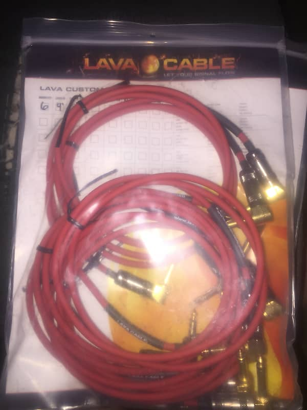 6 qty 4 foot van den hul by lava cable patch cables reverb. Black Bedroom Furniture Sets. Home Design Ideas