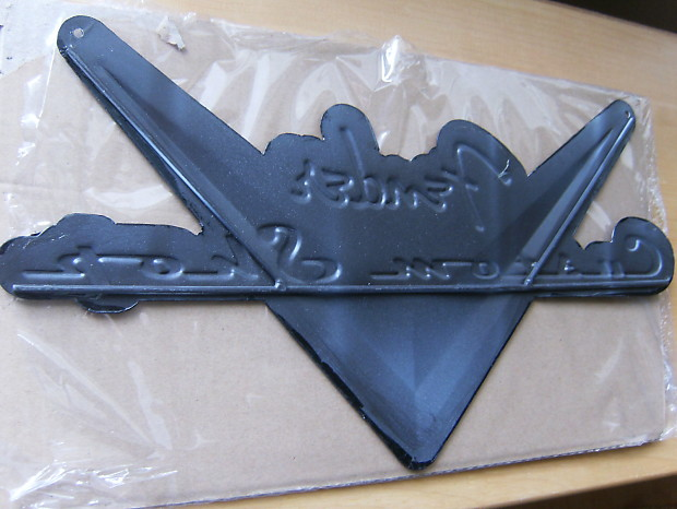 fender guitar custom shop vintage flying v metal sign cool reverb. Black Bedroom Furniture Sets. Home Design Ideas