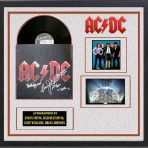 c10feb37fe6b0 AC DC - Black Ice - Signed Vinyl Album Custom Framed with COA