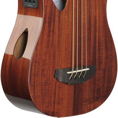 Michael Kelly MKSBSKGOFR Sojourn Port 4-String Travel Acoustic-Electric Bass Guitar w/Gig Bag