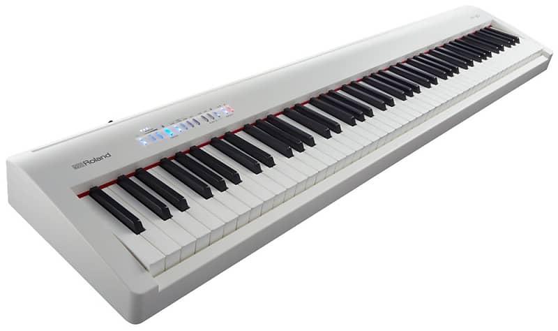 roland fp 30 digital piano white stage essentials bundle reverb. Black Bedroom Furniture Sets. Home Design Ideas