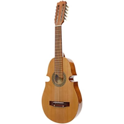 Paracho Elite Santiago Solid Cedar Top 10 String Puerto Rican Style Cuatro, Natural for sale