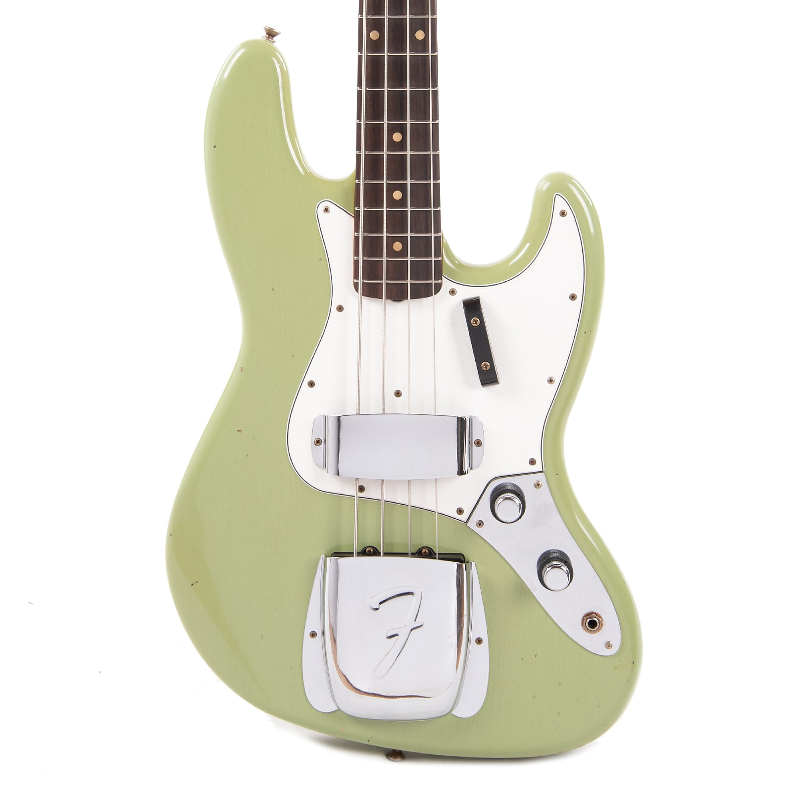 "Fender Custom Shop 1960 Jazz Bass ""CME Spec"" Relic Faded/Aged Sweet Pea Green w/Painted Headcap (Serial #R98838)"