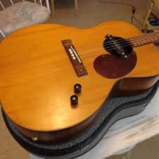 Silvertone Acoustic Electric Tenor Guitar w Original Case - Rare Vintage Kay - 1960's