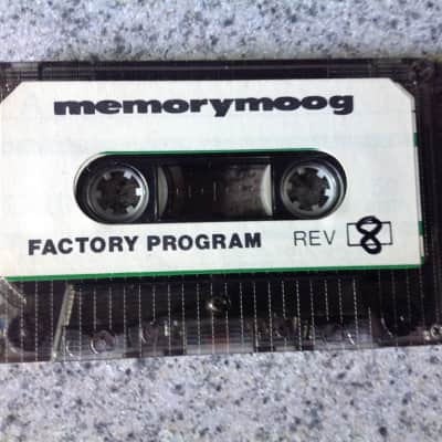 Moog Memorymoog Original Factory Program Patch Cassette 1979