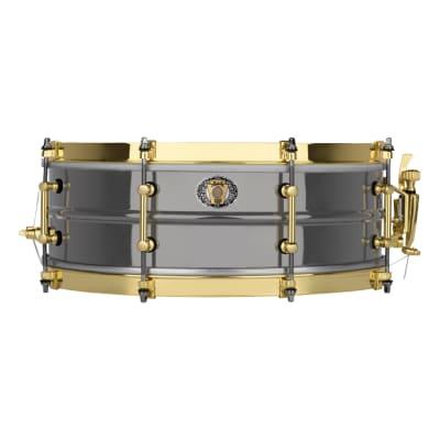 "Ludwig LB406XXC 110th Anniversary Black Beauty 5x14"" 8-Lug Brass Snare Drum 2019"