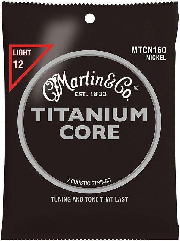 martin titanium core acoustic guitar strings nickel wrap reverb. Black Bedroom Furniture Sets. Home Design Ideas