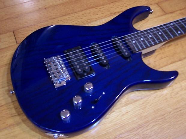 silvertone samick sslk 35dos tbl hss electric guitar reverb. Black Bedroom Furniture Sets. Home Design Ideas