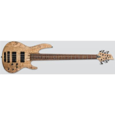 ESP LTD B-208SM Bass, Spalted Maple, 8 String, Natural Satin for sale