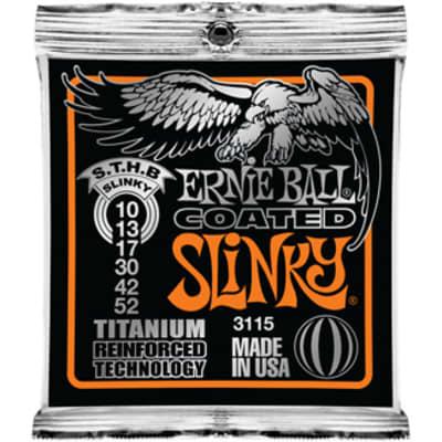 Ernie Ball 3115 Titanium Reinforced Technology Coated Skinny Top Heavy Bottom Slinky