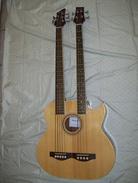 double neck acoustic electric bass guitar 4 and 5 string reverb. Black Bedroom Furniture Sets. Home Design Ideas