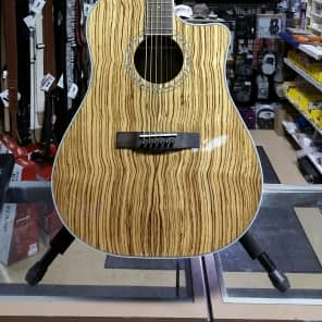 Fender CD-220SCE Exotic Zebrano Acoustic/Electric Guitar Natural