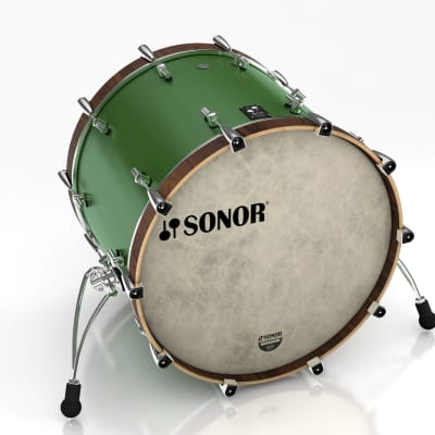 Sonor SQ1 22x17 Bass Drum - Roadster Green