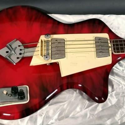 Vintage 1961-62 Wandre Spazial Bass, crimson & smoke, excellent, original, rare. for sale