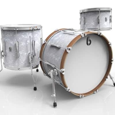 British Drum Company Lounge Series Club 3pc Drum Set 13/16/24 - Windermere Pearl