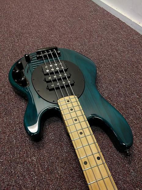 ernie ball music man stingray bass 4 hs custom 2006 aqua reverb. Black Bedroom Furniture Sets. Home Design Ideas