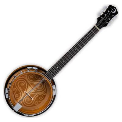 Luna Celtic 6-String Laser-Etched Banjo for sale