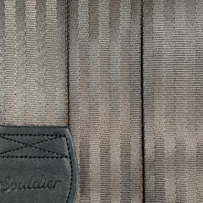 Souldier Chocolate and Black Plain Seat Belt Guitar Strap