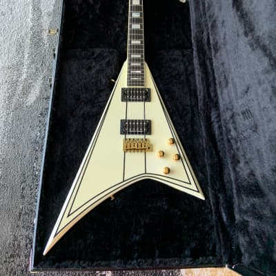 Jackson Custom Shop Randy Rhoads RR 1.5 Music Zoo Exclusive White with Black Pinstripes for sale