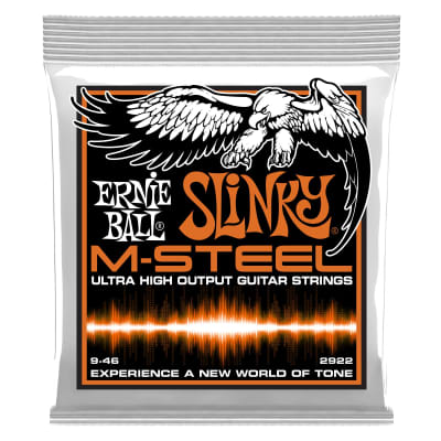 Ernie Ball 2922 Hybrid Slinky M-Steel Electric Guitar Strings, 9-46 Gauge