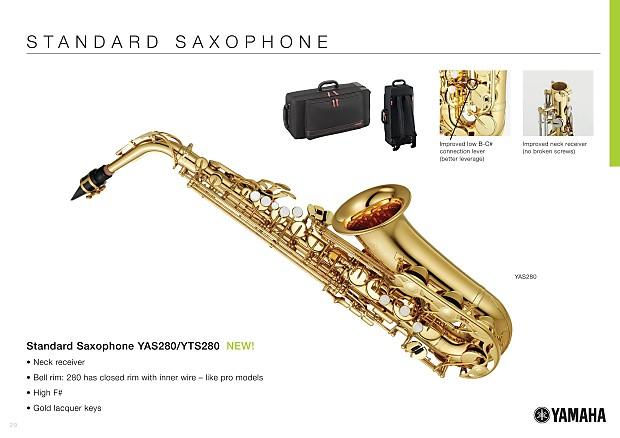 Yamaha yas280 student alto saxophone yas 280 better for Yamaha student saxophone
