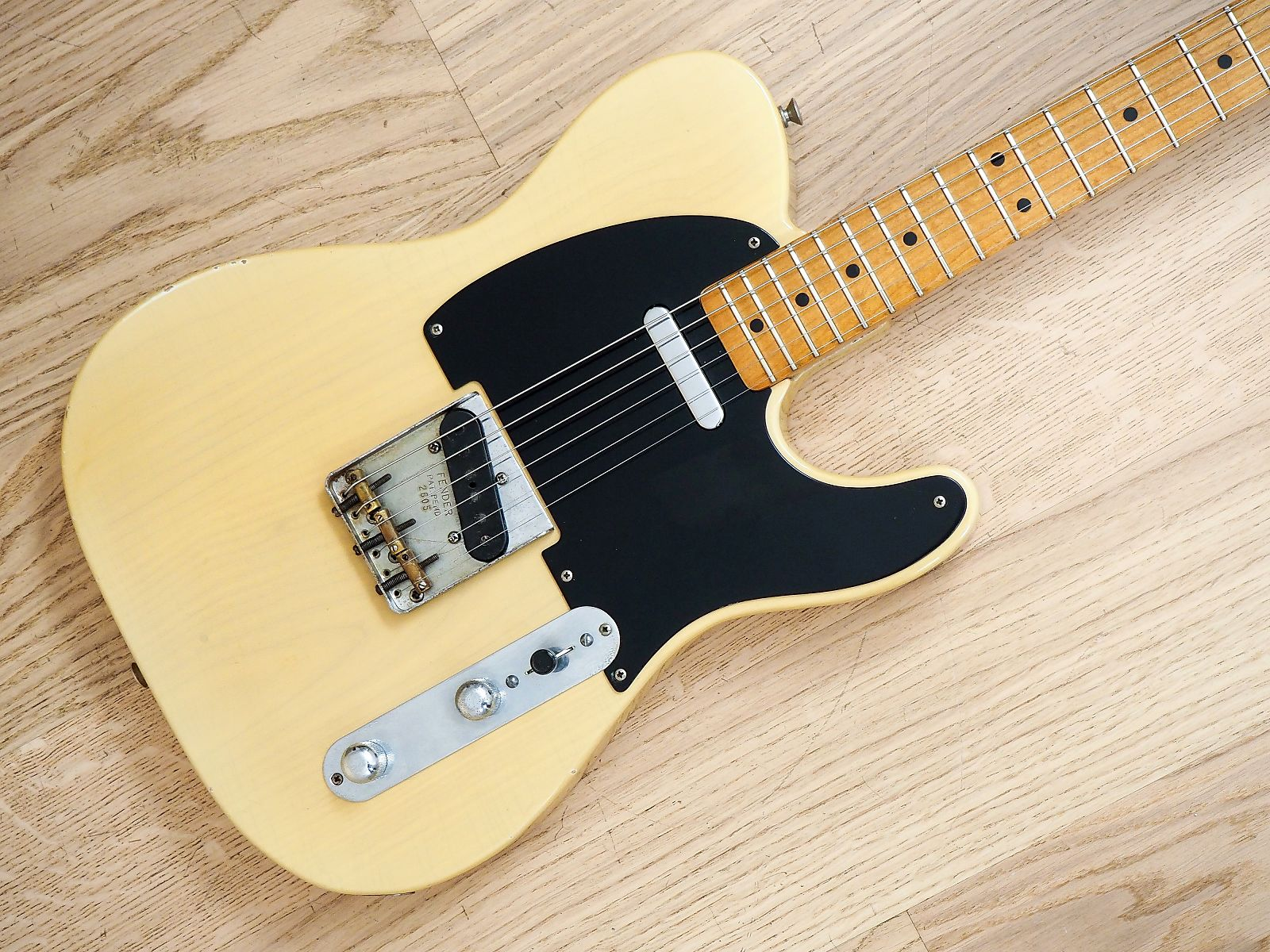 0c59e471c57 1953 Fender Telecaster Vintage Electric Guitar Blackguard Ash, Tadeo Gomez  signed neck w/ Case