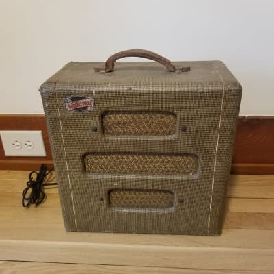 Vintage Valco National Guitar Tube Amp 1948 Tweed for sale