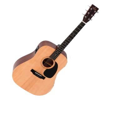 Sigma Acoustic Guitar Dreadnought with Pickup Solid Top DME for sale