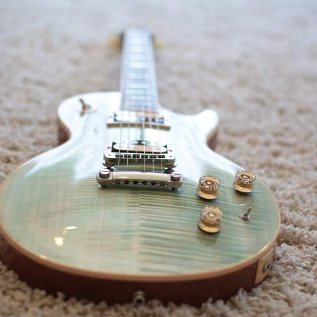 Gibson Les Paul Classic, Seafoam Green (Blue Jean Wash Style) image