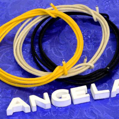 12 Feet Total (4 Ft Black, 4 Ft White, 4 Ft Yellow) 22 AWG Gavitt Cloth Insulated Wire For Fender