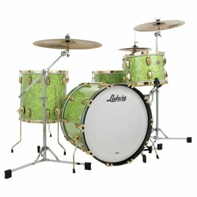 """Ludwig 110th Anniversary Classic Maple Vintage Emerald Pearl 3pc """"Fab"""" Shell Pack 2019"""