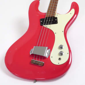 Mosrite Ventures Bass 1965 Custom Color Strawberry Red for sale