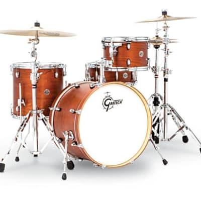 Gretsch Catalina Club 4-Piece Drum Set (20/12/14/14sn)- Satin Walnut Glaze