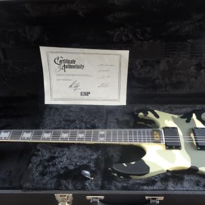 ESP Jeff Hanneman Camo Eagle Inlays 2008 Kahler Trem with COA & Case Kiso Built for sale