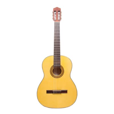 Hora Classical Guitar & Case N1010 Spanish Full Size Nylon String All Solid Body for sale