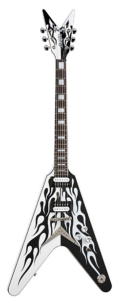 dean michael schenker custom flames electric guitar w