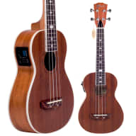 Lindo Little Feeling Sapele Electro-Acoustic Concert Ukulele with Preamp / LCD Tuner & Gig Bag for sale