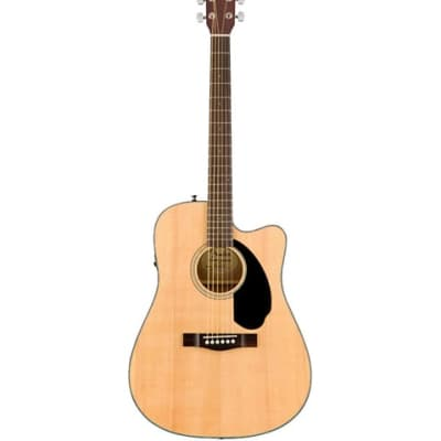Fender CD-60SCE Dreadnought Acoustic-Electric Guitar Natural for sale
