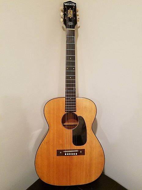 Harmony H 162 Vintage Acoustic Guitar Relic Road Worn Vibe USA 1961 Natural