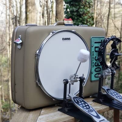 OneManBandDrumCo.  The G.A.F. 16inch OMBDrumCo. Vintage Suitcase Drum Kick Drum Bass Drum Ludwig Accent Drum for sale
