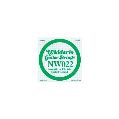 D'Addario Nickel Wound Electric Single String NW022