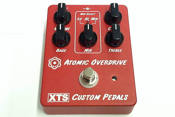 xts custom pedals red atomic overdrive pedal reverb. Black Bedroom Furniture Sets. Home Design Ideas