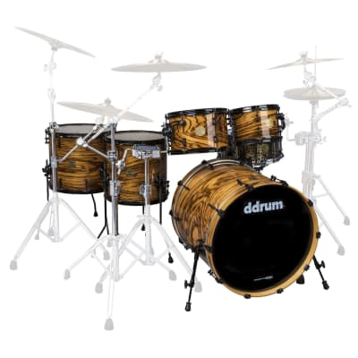 ddrum Dios 5 Piece Exotic Drum Shell Pack - 10/12/14/16/22 - Gloss - DS MPZ 522 GN