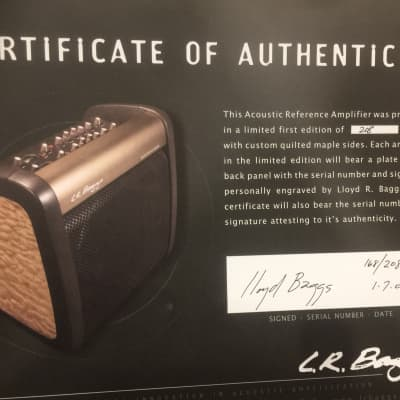 LR Baggs Acoustic Reference Amp - LTD w/ factory upgrade - Seems crazy no one has bought this yet :) for sale