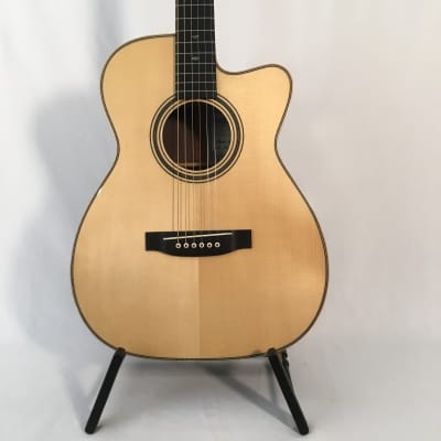 Asturias Solo Herringbone - 000 with cutaway. Handmade acoustic guitar from Japan, doblen case. for sale
