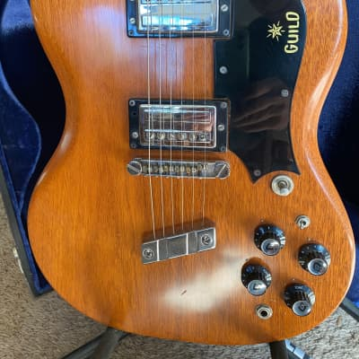 Vintage Guild S-100 1971 Natural Mahogany with original case for sale