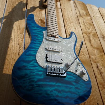 ESP Custom Shop Snapper Custom Aqua Marine/Maple Neck w/ Hard Case (Summer Namm  2015) for sale