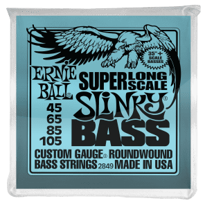 Ernie Ball Super Long Scale Slinky Electric Bass Guitar Strings 45-105